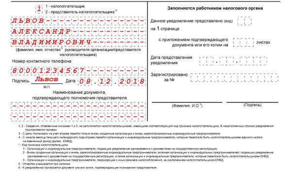 Уведомление на усн при регистрации ип 2019 3 ндфл декларации подают до